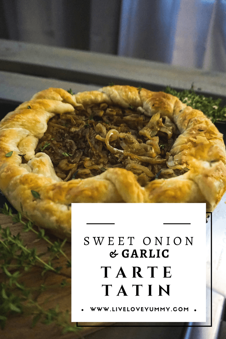 Sweet Onions & Garlic Tarte Tatin Recipe