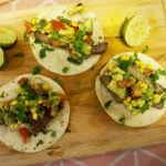 Steak Tacos with Chipotle Avocado Salad Recipe