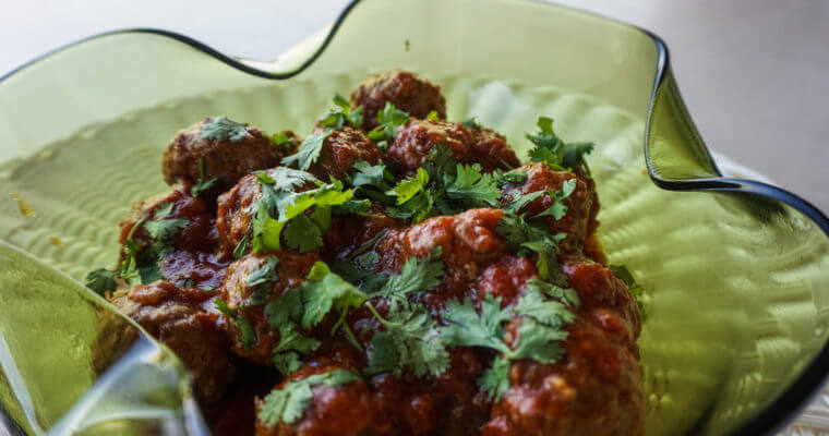 Easy Moroccan Meatballs in Tomato Sauce Recipe