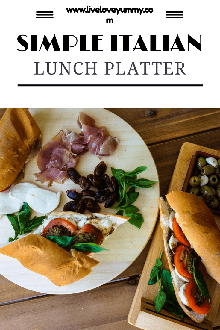Simple Italian Lunch Platter