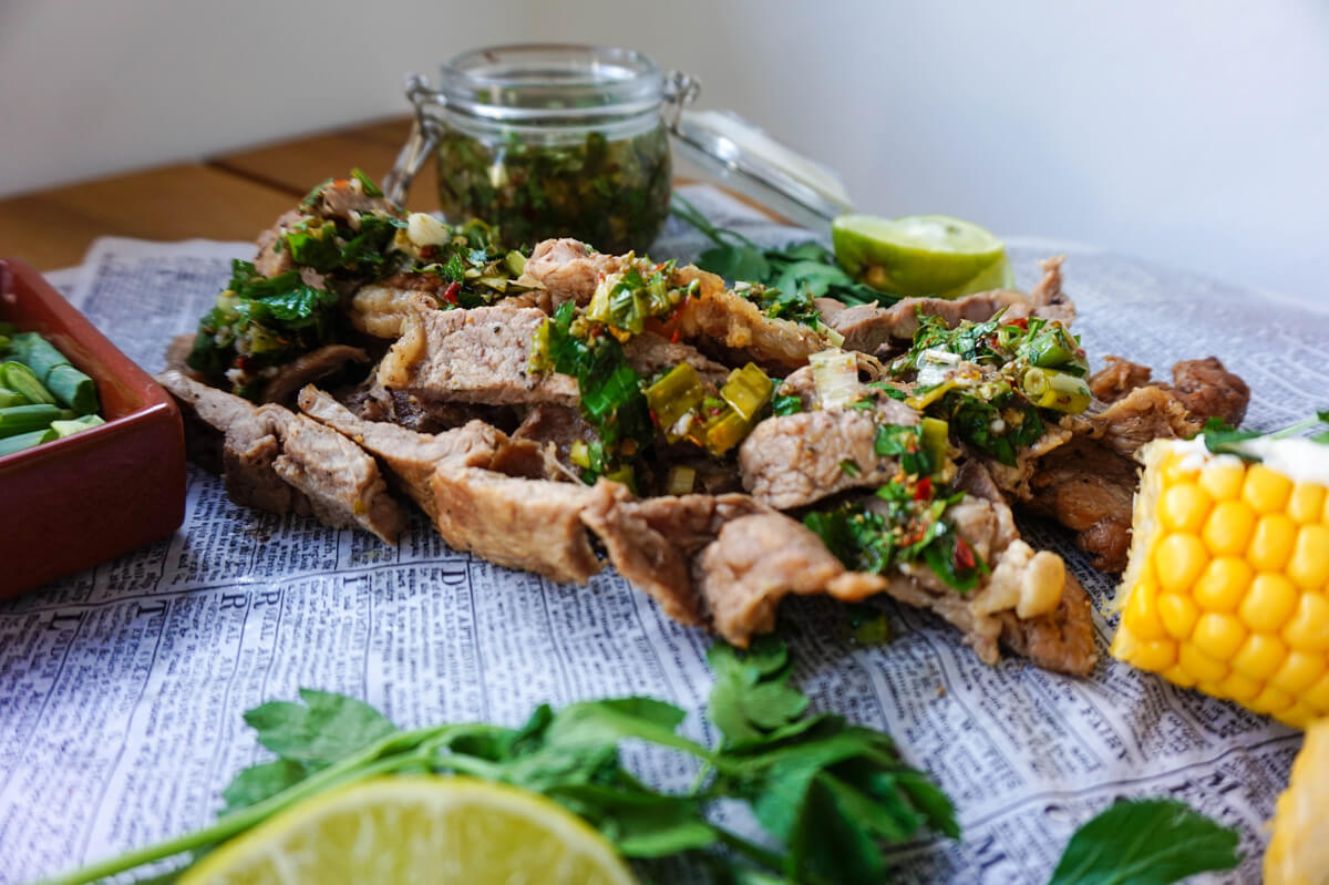 Sirloin Steak with Chimichurri Sauce Recipe