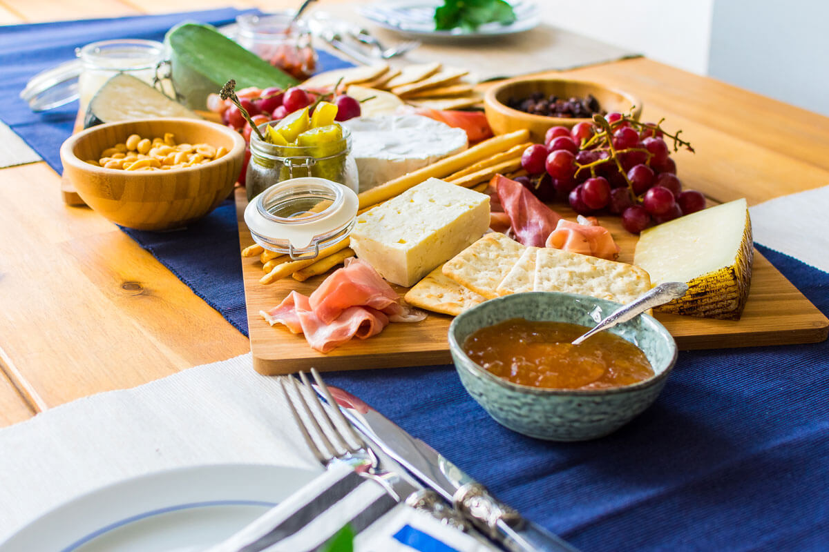 A Cheese Platter as Appetizer for a Dinner Party