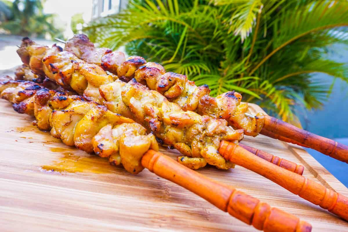 Caribbean Chicken Pinchos Recipe
