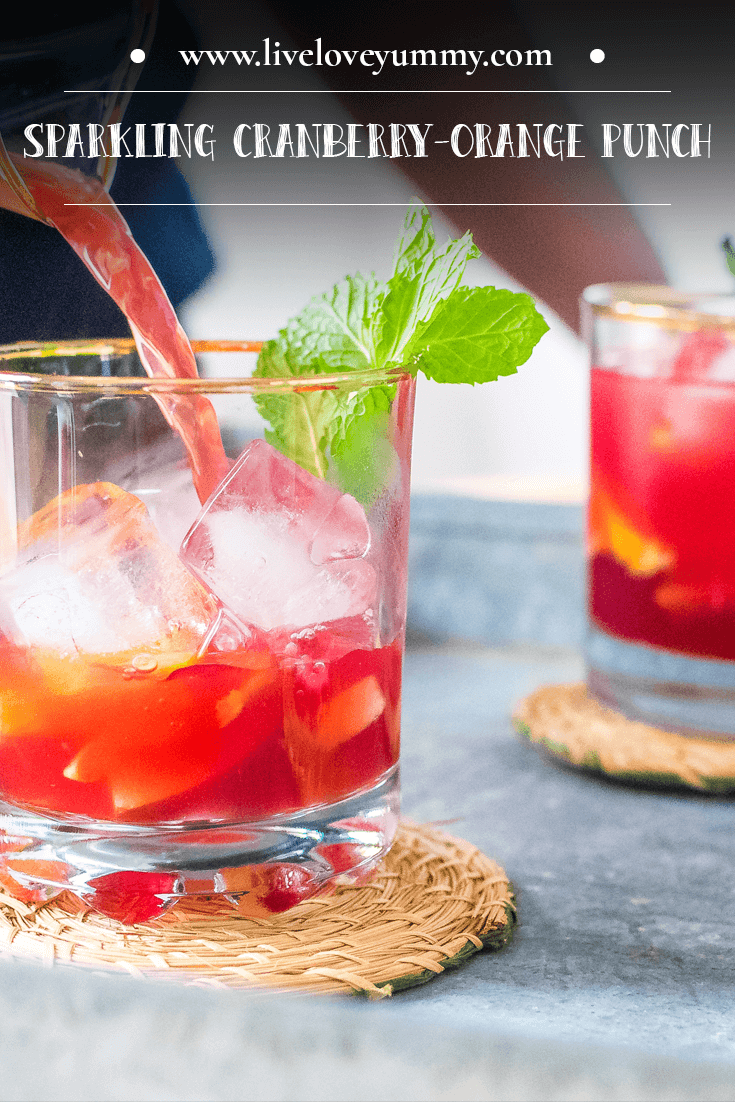 Save to Pinterest: Cranberry-Orange Punch Mocktail Recipe