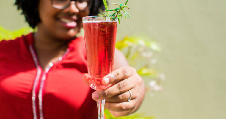 Poinsettia Holiday Cocktail Recipe