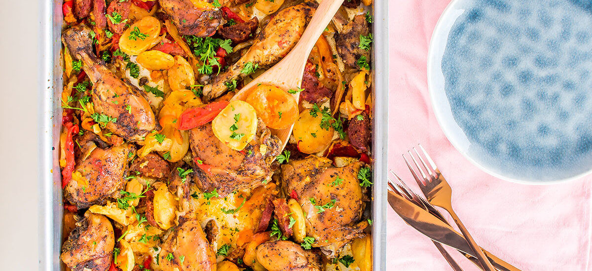 Spanish Chicken Recipe with Chorizo and Potato