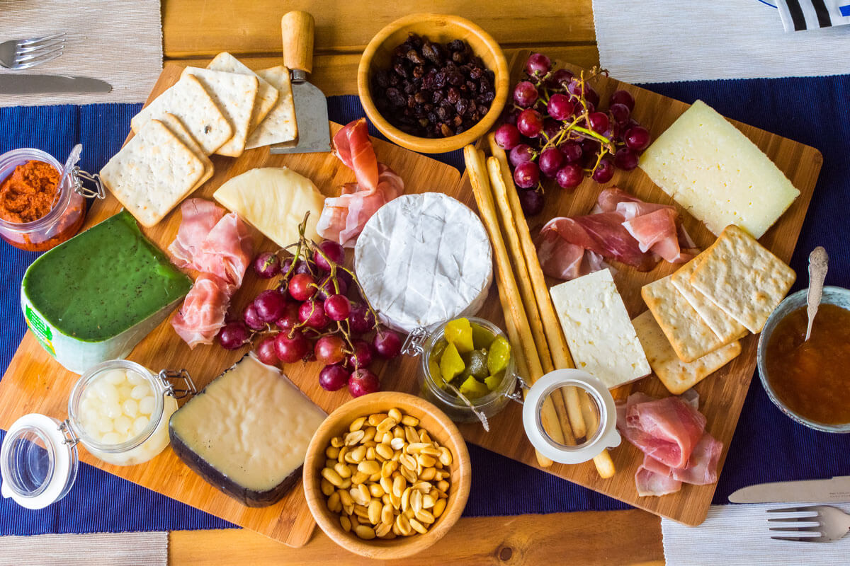 A cheese board for entertaining at Home