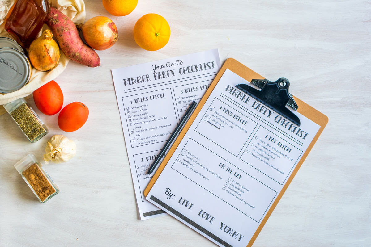 How To Organize a Dinner Party without Stressing (Incl. Dinner Party Checklist)