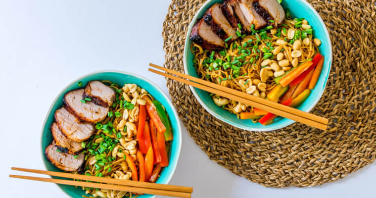 Kung Pao Noodles Recipe with Char Siu