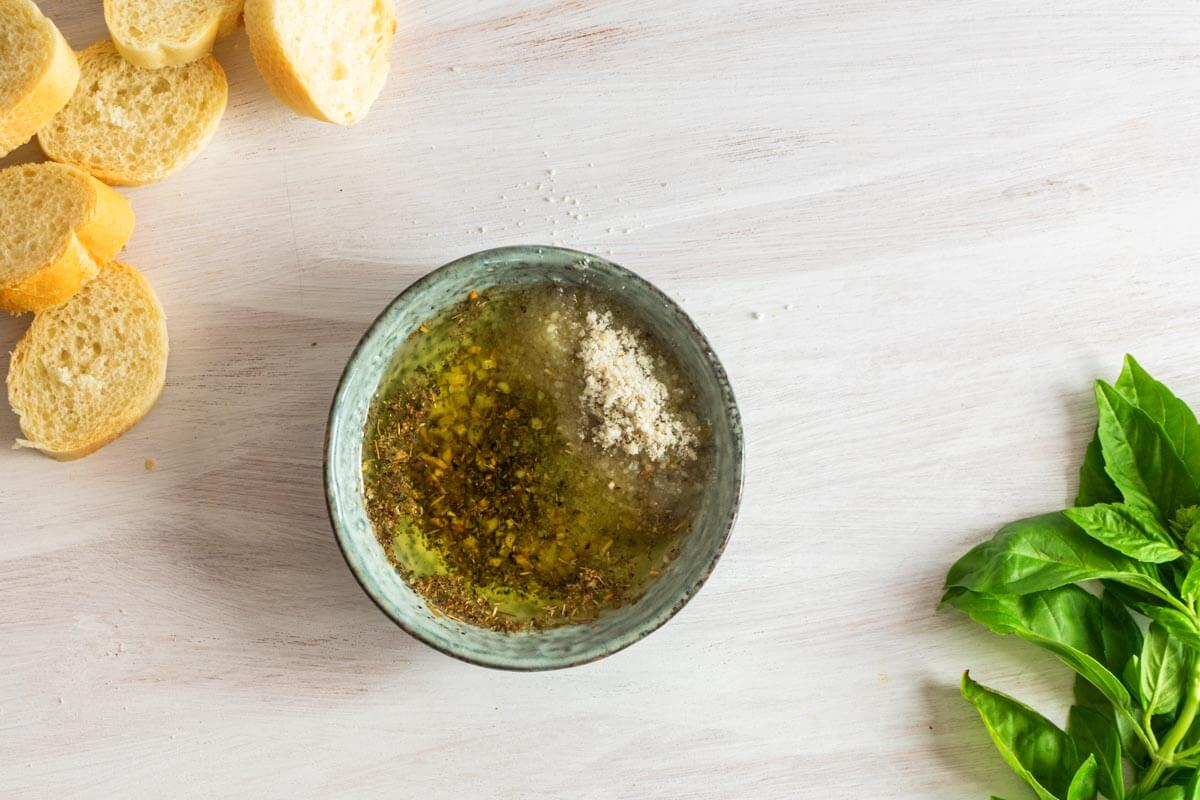 Parmesan & Herb Oil Dip Recipe