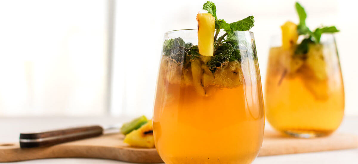 Easter Cocktail: Charred Pineapple Mojito Cocktail