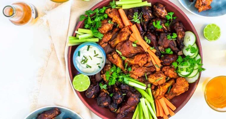 Baked Chicken Wings Platter Recipe