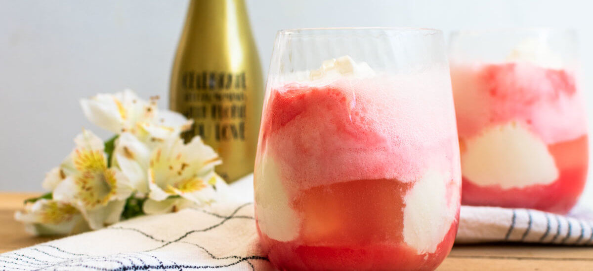 Red Champagne Float Recipe