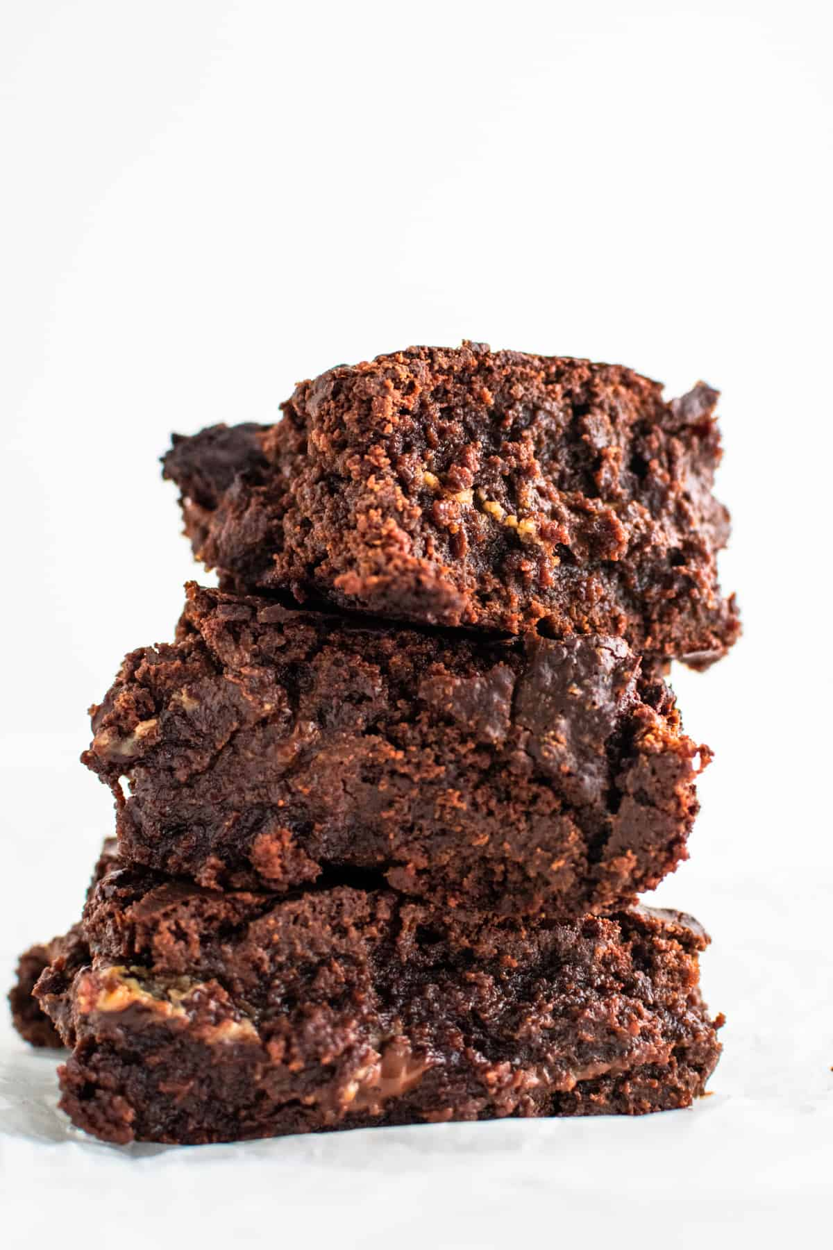 A stack of brownie with condensed milk